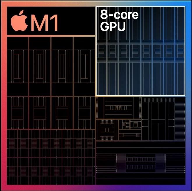 Apple M1 cu cele 8 nuclee GPU